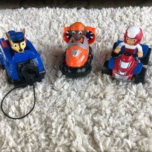 "Paw Patrol 4"" Vehicles Lot of 3 Ryder, Zuma, Chase"